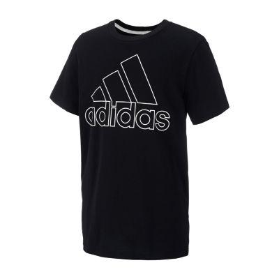 adidas Round Neck Short Sleeve Graphic T-Shirt - Boys