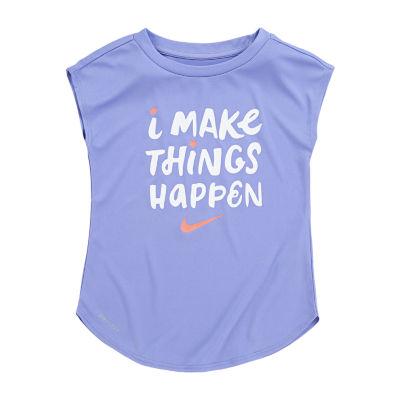 Nike Girls Crew Neck T-Shirt-Toddler