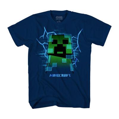 Boys Crew Neck Short Sleeve Minecraft T-Shirt Preschool / Big Kid