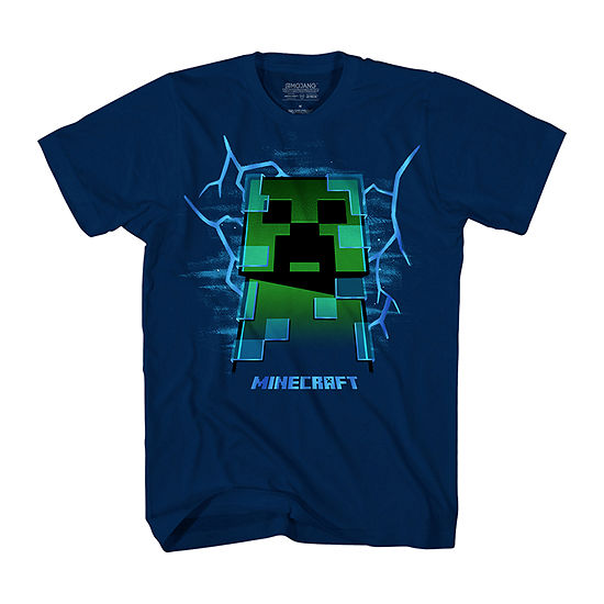 Boys Crew Neck Short Sleeve Minecraft Graphic T-Shirt - Preschool / Big Kid