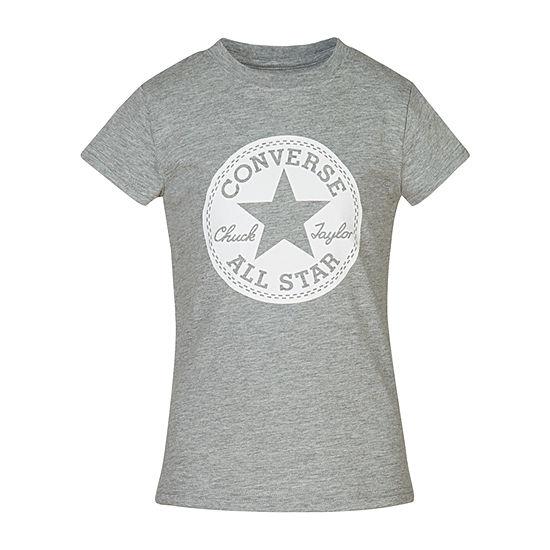 Converse Short Sleeve Signature T-Shirt - Girls' 7-16