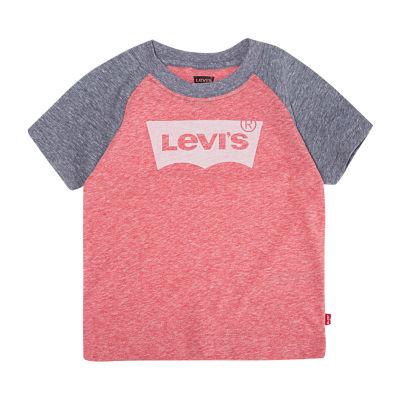 Levi's Boys Crew Neck Short Sleeve T-Shirt-Toddler