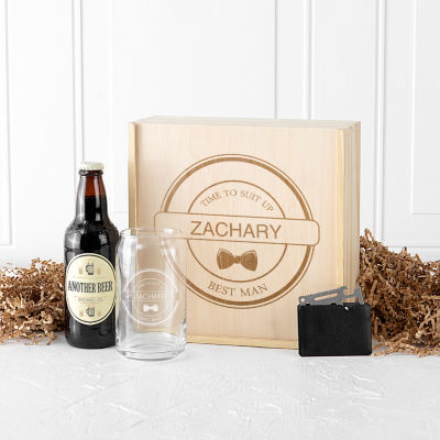 Cathy's Concepts Personalized Best Man Craft Beer Gift Box Set