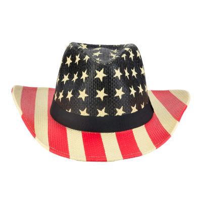 City Streets American Flag Printed Cowboy Hat