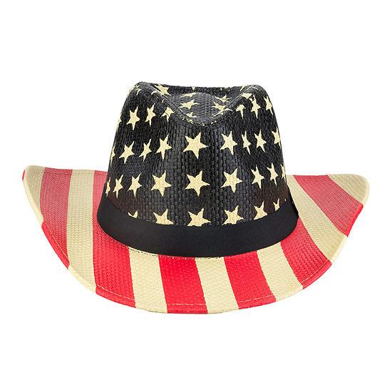 City Streets® American Flag Printed Cowboy Hat