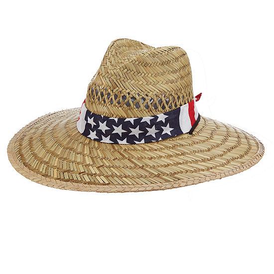 City Streets® Lifeguard Hat with American Flag Bandana Band