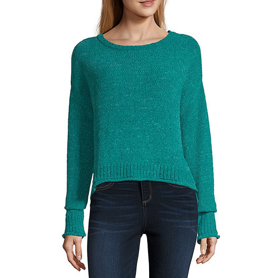 Say What Womens Long Sleeve Sweater Juniors