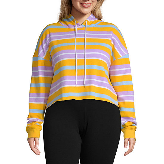 Flirtitude-Juniors Plus Womens Long Sleeve Fleece Hoodie