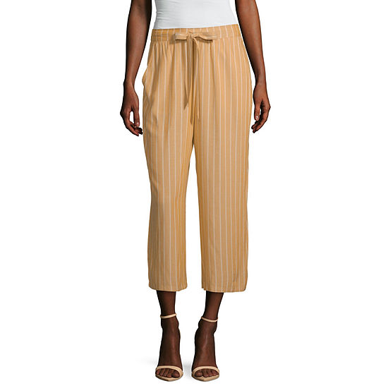 Arizona Womens Low Rise Wide Leg Drawstring Pants - Juniors