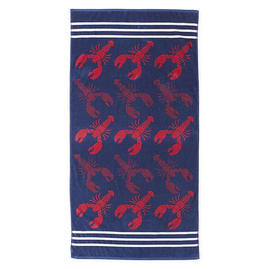 Outdoor Oasis Lobster Beach Towel