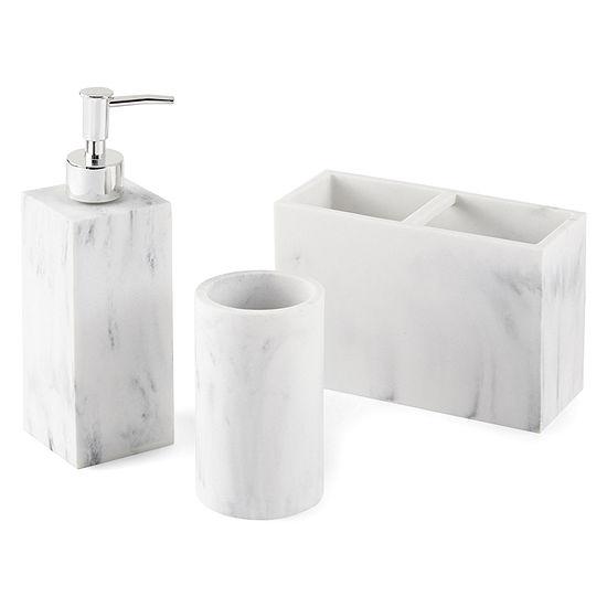 Golden Tadco Faux White Marble 3-pc. Bath Accessory Set