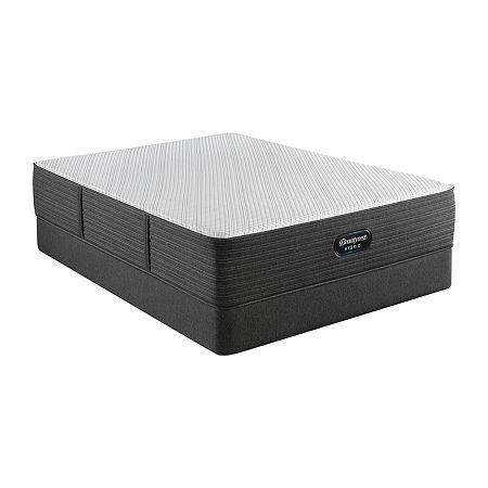 Beautyrest Hybrid  BRX1000-C Plush - Mattress + Box Spring, King, Gray