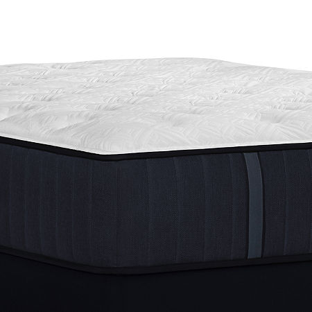 Stearns and Foster Hurston Cushion Firm - Mattress + Box Spring, Split Cal King, White