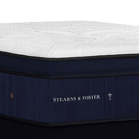 Stearns and Foster Hepburn Luxury Plush EPT- Mattress + Box Spring, One Size , White