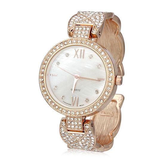 Mixit Womens Rose Goldtone Bangle Watch Pt7147rg