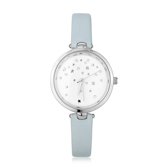 Mixit Womens Blue Strap Watch Pt6200sllb
