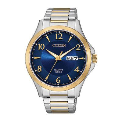 Citizen Quartz Mens Two Tone Bracelet Watch-Bf2005-54l