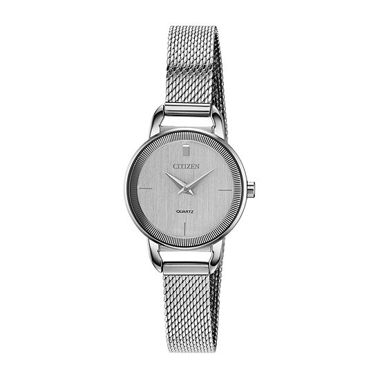Citizen Quartz Womens Silver Tone Stainless Steel Bracelet Watch-Ez7000-50a