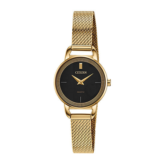 Citizen Quartz Womens Gold Tone Stainless Steel Bracelet Watch-Ez7002-54e