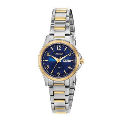 Citizen Quartz Womens Two Tone Bracelet Watch-Eq0595-55l