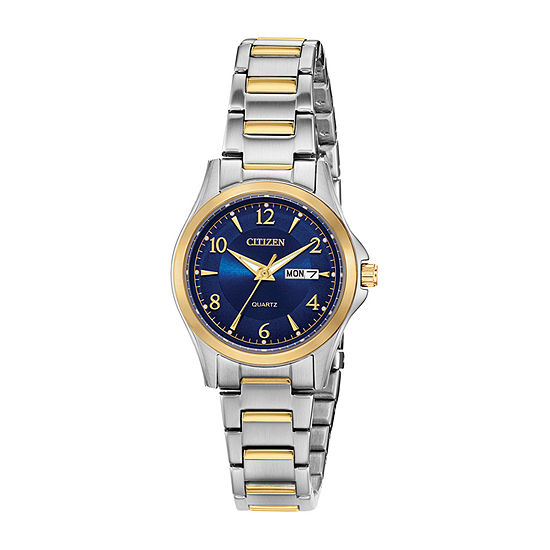 Citizen Quartz Womens Two Tone Bracelet Watch-Eq0595-55l