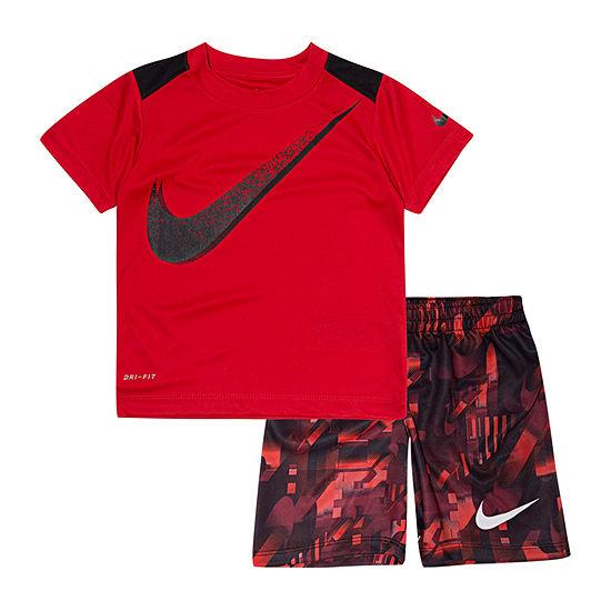 Nike 2 Pc Short Set Toddler Boys