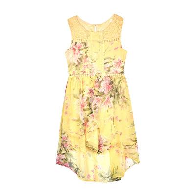 by&by Girl Sleeveless Walkthrough Dress- Big Kid Girls