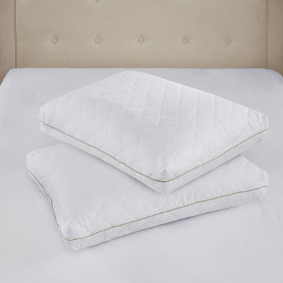 Sleep Philosophy Wonder Wool 300TC 2-Pack Quilted Cotton Sateen Pillows