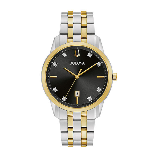 Bulova Sutton Mens Two Tone Stainless Steel Bracelet Watch-98d165
