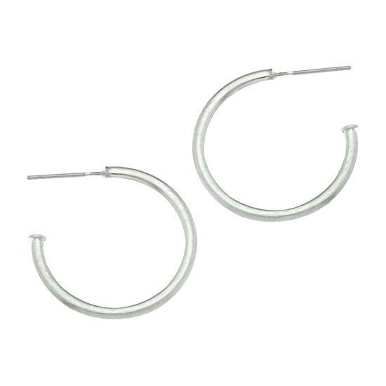 a.n.a Silver-Tone Hoop Earrings