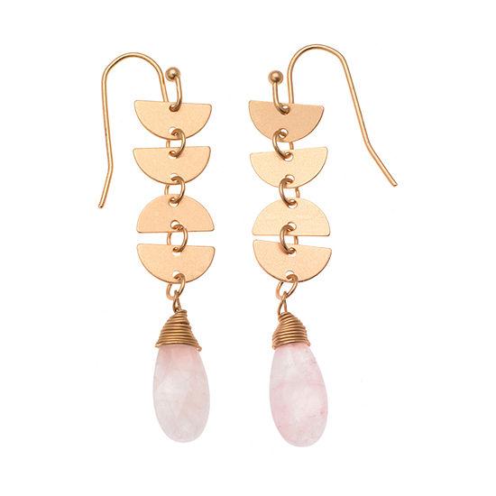 a.n.a Pink Drop Earrings
