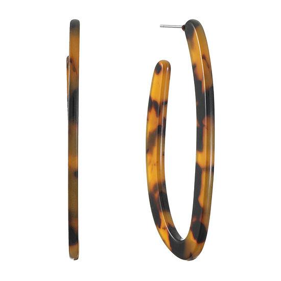 Worthington Resin Hoop Earrings