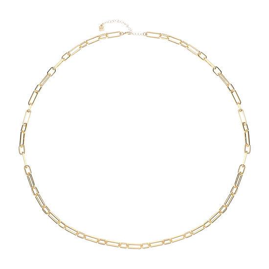 Worthington Gold Tone 36 Inch Link Strand Necklace
