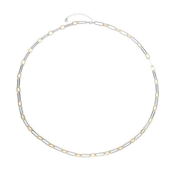 Worthington Two Tone 36 Inch Link Strand Necklace