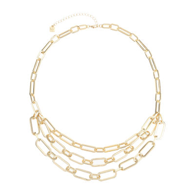 Worthington Gold Tone 20 Inch Link Collar Necklace