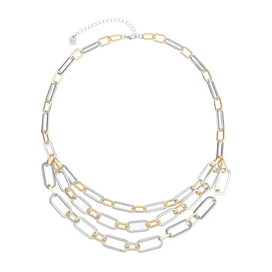 Worthington Two Tone 20 Inch Link Collar Necklace