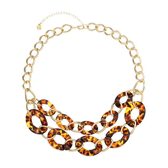 Worthington Resin 20 Inch Curb Collar Necklace
