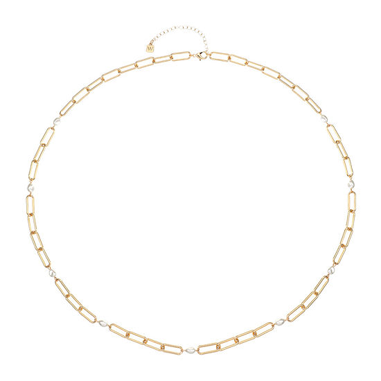 Worthington Gold Tone 34 Inch Link Strand Necklace