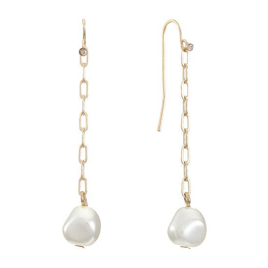Worthington Gold Tone Drop Earrings