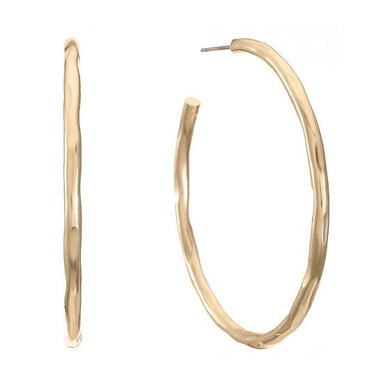 Worthington Hammered Hoop Earrings