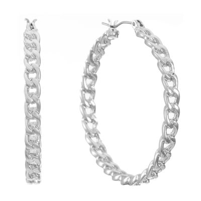 Worthington Chain Hoop Earrings