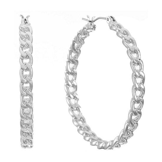 Worthington Chain Hoop Earrings