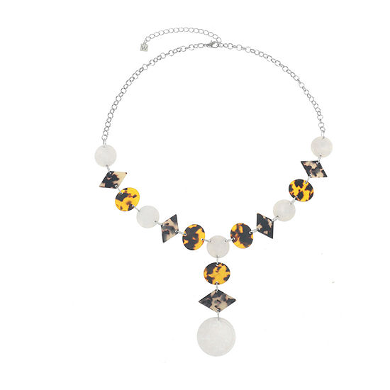 Worthington Resin 20 Inch Cable Y Necklace