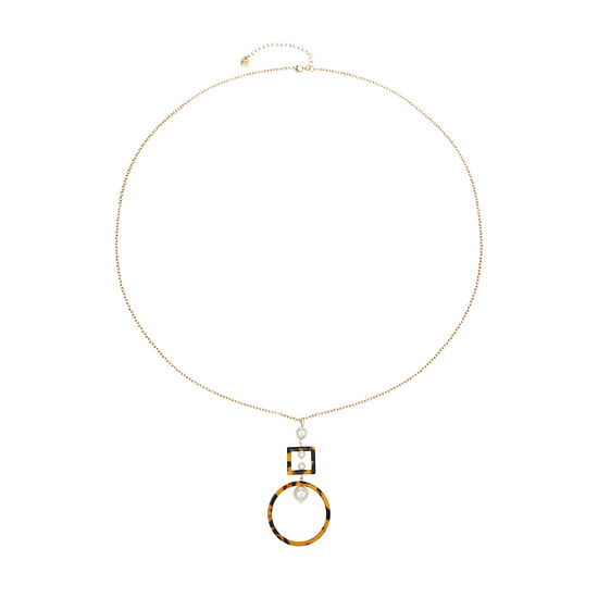 Worthington Resin 36 Inch Cable Pendant Necklace