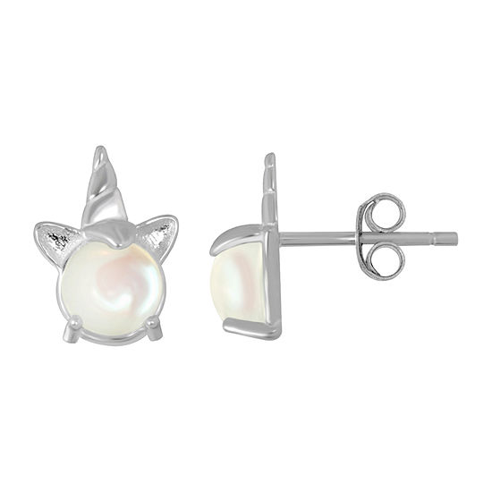 Itsy Bitsy White Crystal Sterling Silver 10.3mm Stud Earrings