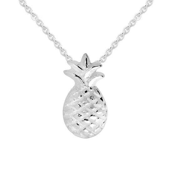 Itsy Bitsy Sterling Silver 16 Inch Cable Pendant Necklace