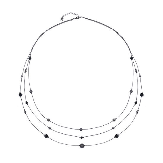 Mixit Black 36 Inch Cable Collar Necklace