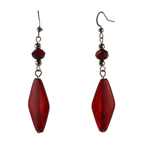 Mixit Red Drop Earrings