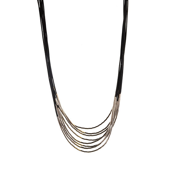 Mixit Black 30 Inch Strand Necklace