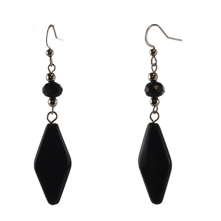 Mixit Drop Earrings, One Size , Black